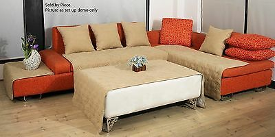 Quilted Micro Suede Custom Sectional Sofa Throw Pad Furniture