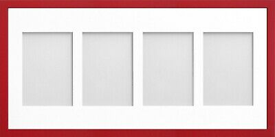 Frame Company Jellybean Red Wooden Multi Aperture Collage Photo frame & Mount 5