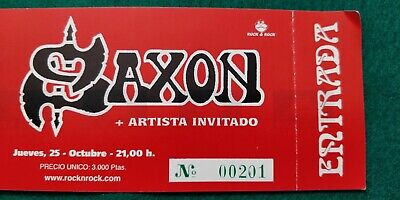 SAXON   UNUSED TICKET  Spain FREE SHIPPING WORLDWIDE WITH TRACKING 3