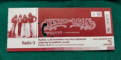 KINGS OF LEON  UNUSED TICKET  Spain FREE SHIPPING WORLDWIDE WITH TRACKING 2