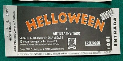 HELLOWEEN  UNUSED TICKET Spain FREE SHIPPING WORLDWIDE WITH TRACKING 2