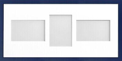 Frame Company Jellybean Dark Blue Wood Multi Aperture Collage Photo frame &Mount 8