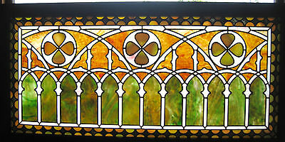 VICTORIAN STAINED GLASS  WINDOW  ca. 1880s 4