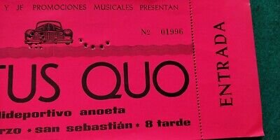 STATUS QUO 1975 TICKET Spain FREE SHIPPING WORLDWIDE WITH TRACKING 2