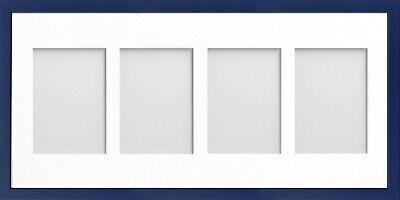 Frame Company Jellybean Dark Blue Wood Multi Aperture Collage Photo frame &Mount 10