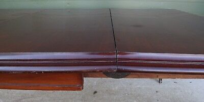 Antique Victorian Mahogany Pull-Out Extending Dining Table with One Leaf 9