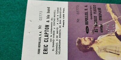 ERIC CLAPTON  UNUSED TICKET  Spain FREE SHIPPING WORLDWIDE WITH TRACKING 4