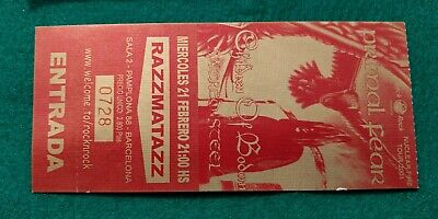PRIMAL FEAR 2001 UNUSED TICKET  Spain FREE SHIPPING WORLDWIDE WITH TRACKING 2