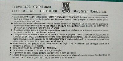 CHRIS DE BURGH  UNUSED TICKET  Spain FREE SHIPPING WORLDWIDE WITH TRACKING 6