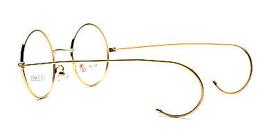 4e8580fdb4 ... Vintage Cable Temple Round Eyeglass Frames Spectacles Rx Retro Mens  Womens Kids 4