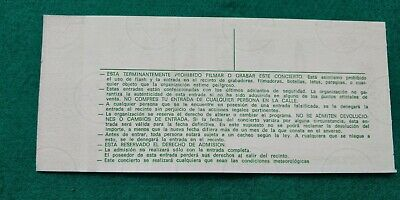 STING  1985 Police UNUSED TICKET  Spain FREE SHIPPING WORLDWIDE WITH TRACKING 5