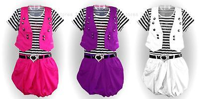 New Girls Belted Party Dress with Jacket Outfit Set Age 2 4 6 8 10 years 4
