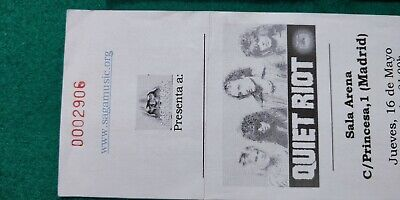 QUIET RIOT  UNUSED TICKET  Spain FREE SHIPPING WORLDWIDE WITH TRACKING 4