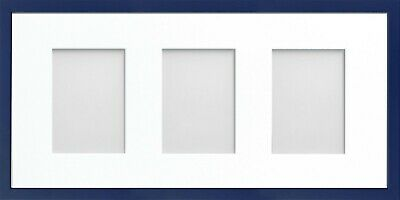 Frame Company Jellybean Dark Blue Wood Multi Aperture Collage Photo frame &Mount 4