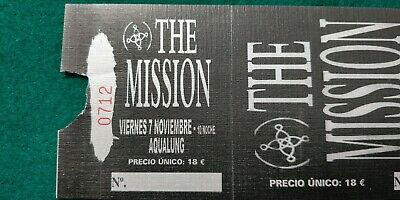 THE MISSION  UNUSED TICKET  Spain FREE SHIPPING WORLDWIDE WITH TRACKING 4