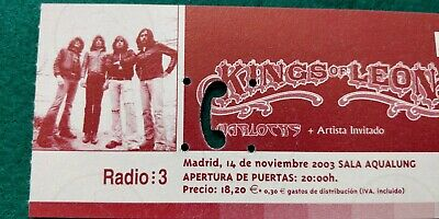 KINGS OF LEON  UNUSED TICKET  Spain FREE SHIPPING WORLDWIDE WITH TRACKING 4