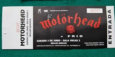 MOTORHEAD LEMMY UNUSED TICKET  Spain FREE SHIPPING WORLDWIDE WITH TRACKING 2
