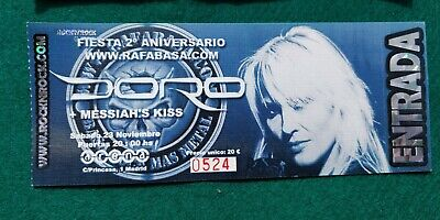 DORO MESSIAHS KISS UNUSED TICKET Spain FREE SHIPPING WORLDWIDE WITH TRACKING 2