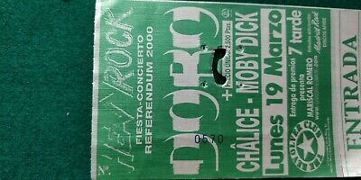DORO CHALICE MOBY DICK UNUSED TICKET Spain FREE SHIPPING WORLDWIDE WITH TRACKING 4