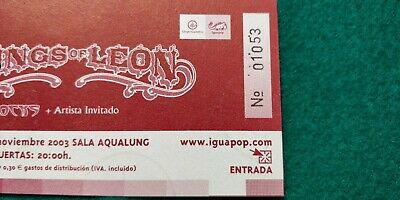 KINGS OF LEON  UNUSED TICKET  Spain FREE SHIPPING WORLDWIDE WITH TRACKING 3