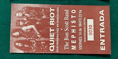 QUIET RIOT UNUSED TICKET  Spain FREE SHIPPING WORLDWIDE WITH TRACKING 2