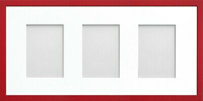 Frame Company Jellybean Red Wooden Multi Aperture Collage Photo frame & Mount 7