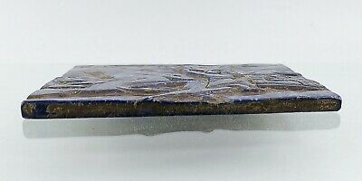 Very Old Lapis Lazuli Roman Hunter Lion / King Engraved Stone & Signs 12 cm #153 3