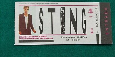 STING  1985 Police UNUSED TICKET  Spain FREE SHIPPING WORLDWIDE WITH TRACKING 2