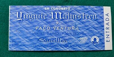 YNGWIE MALMSTEEN UNUSED TICKET  Spain  FREE SHIPPING WORLDWIDE WITH TRACKING 2