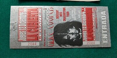 ALICE COOPER UNUSED TICKET Spain FREE SHIPPING WORLDWIDE WITH TRACKING 2