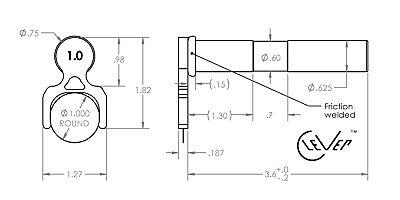 """Laser cut hardened steel 1-11//16/"""" 1.687/"""" CleVer Bar Puller cnc lathe 3//4/"""" shank"""