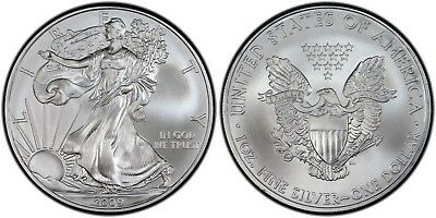 2009 Silver American Eagle BU 1 oz Coin US $1 Dollar Uncirculated from PCGS Tube 6