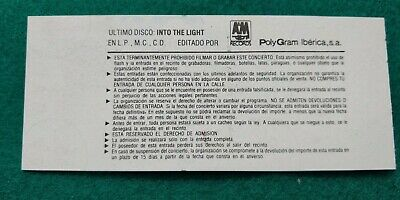 CHRIS DE BURGH  UNUSED TICKET  Spain FREE SHIPPING WORLDWIDE WITH TRACKING 5
