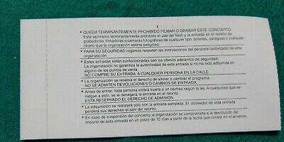 DORO CHALICE  UNUSED TICKET Spain FREE SHIPPING WORLDWIDE WITH TRACKING 4