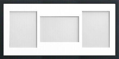 Frame Company Jellybean Black Wooden Multi Aperture Collage Photo frame & Mount 6
