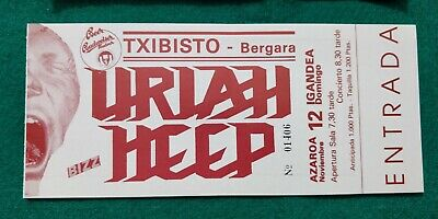URIAH HEEP  UNUSED TICKET  Spain FREE SHIPPING WORLDWIDE WITH TRACKING 2