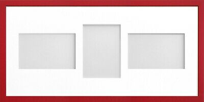 Frame Company Jellybean Red Wooden Multi Aperture Collage Photo frame & Mount 8