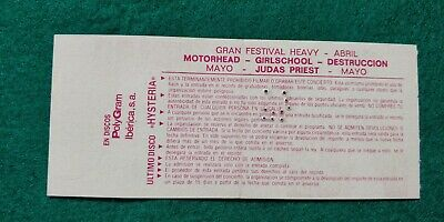 DEF LEPPARD Hysteria Tour  UNUSED TICKET Spain FREE SHIPPING WORLDWIDE TRACKING 5