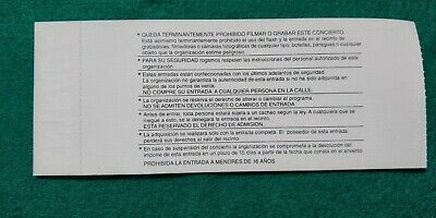 DORO MESSIAHS KISS UNUSED TICKET Spain FREE SHIPPING WORLDWIDE WITH TRACKING 5