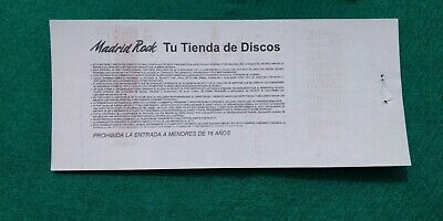 ALICE COOPER UNUSED TICKET Spain FREE SHIPPING WORLDWIDE WITH TRACKING 5