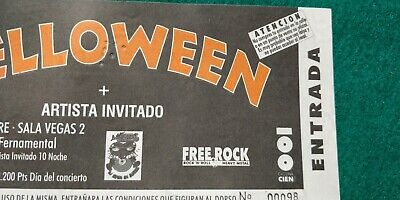 HELLOWEEN  UNUSED TICKET Spain FREE SHIPPING WORLDWIDE WITH TRACKING 3