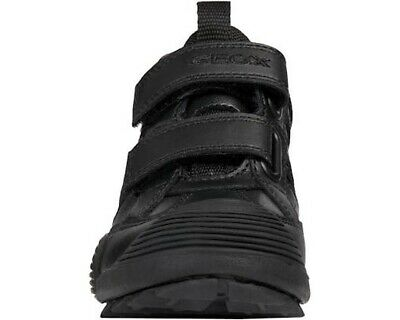 Details about  /Geox J Savage B Black Smooth Leather Junior School Shoes