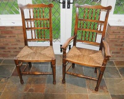 Set 6 Spindleback Kitchen Dining Chairs Spindle 3 • £1,345.50