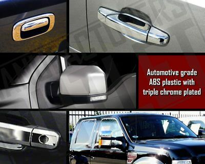 1998-2002 Navigator Triple Chrome Mirror Covers Overlays Trims W//out Turn Signal
