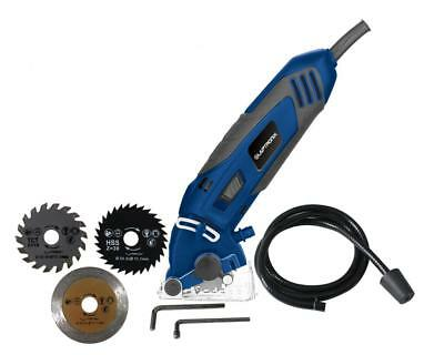 400w Mini Circular Saw With Wood, Metal and Tile Blades Included + Carry Case 2