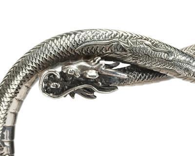 A Samurai Shokai sterling silver dragon-motif teapot on stand Lot 106