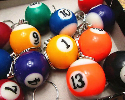Keyfob Keyring Keychain Toy Gift Lucky Item Pool Billiard Snooker Table Ball 2