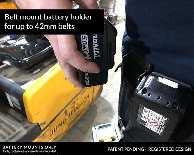 5x BATTERY MOUNTS for MAKITA 18v Storage Shelf Rack Stand Holder Slots Van Case 2