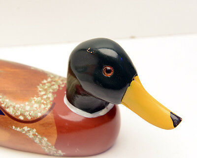 Wood Decoy Duck - Hand Painted