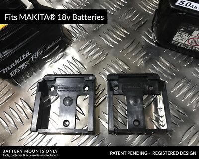 5x BATTERY MOUNTS for MAKITA 18v Storage Shelf Rack Stand Holder Slots Van Case 5